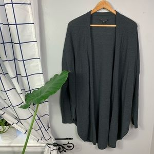 Eileen Fisher Gray Open Front Knit Cardigan